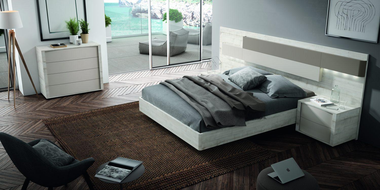 Dormitorio matrimonio con led opcional, los diferentes acabados de color le darán el aspecto que deseas.