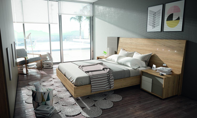 Dormitorio matrimonio con cabecero curvo y bancada opcional, configura tu dormitorio con el color que más te guste.