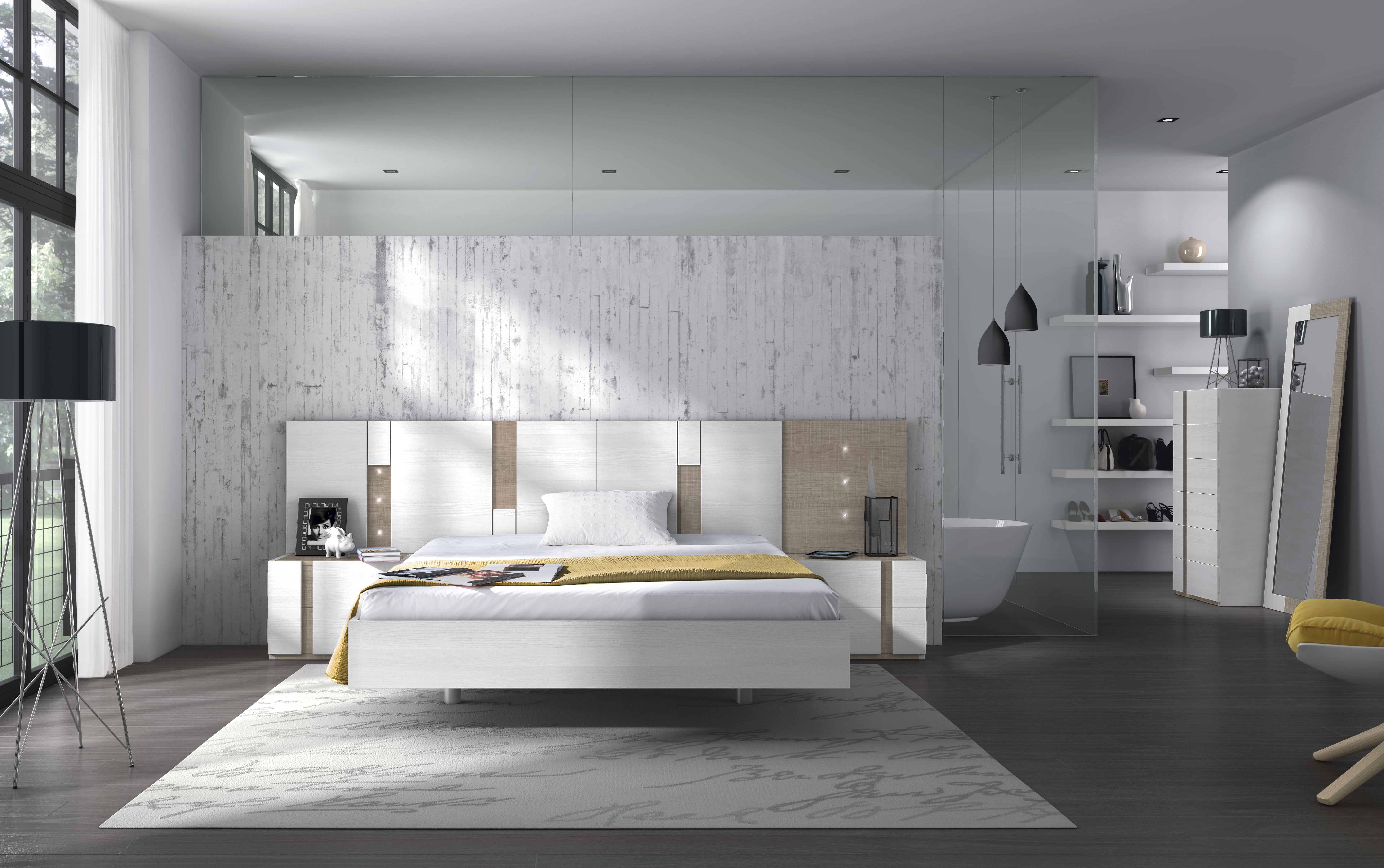 Dormitorio matrimonio con diferentes variantes tanto de acabados como de diseños.