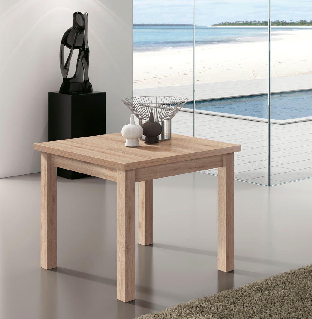 Mesa comedor libro de 90x90 extensible a 180 cm. Variedad de colores.