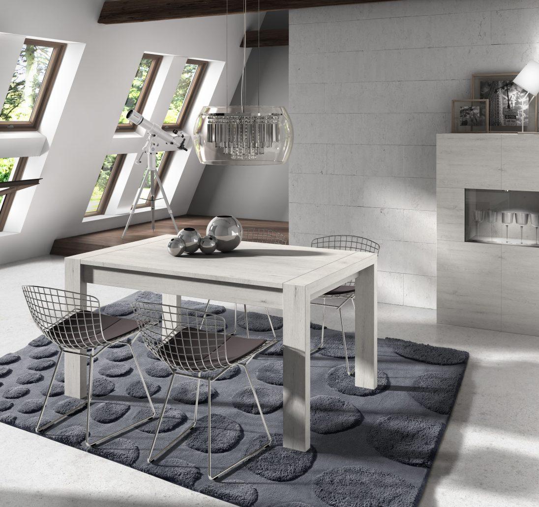 Mesa comedor de 140x90 extensible a 200 cm con pata deslizante, color a elegir.