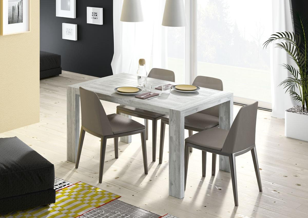 Mesa comedor 135x90 con sistema extensible de pata deslizante a 195 cm, con sillas opcionales y amplia gama de colores.