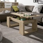 Practica mesa de centro elevable de 110x60 cm. Disponible en varios colores.