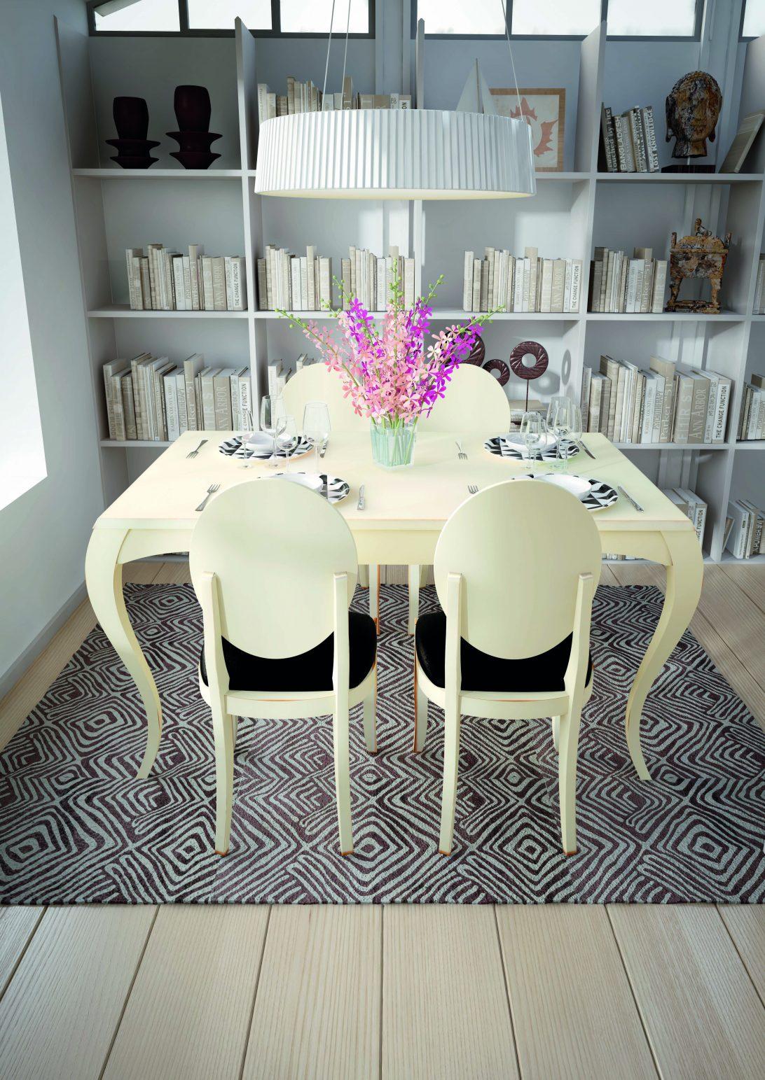 Mesa comedor de madera 140x90 extens.190 con pata isabelina, con diferentes opciones de medida y acabados. Marca estilo.