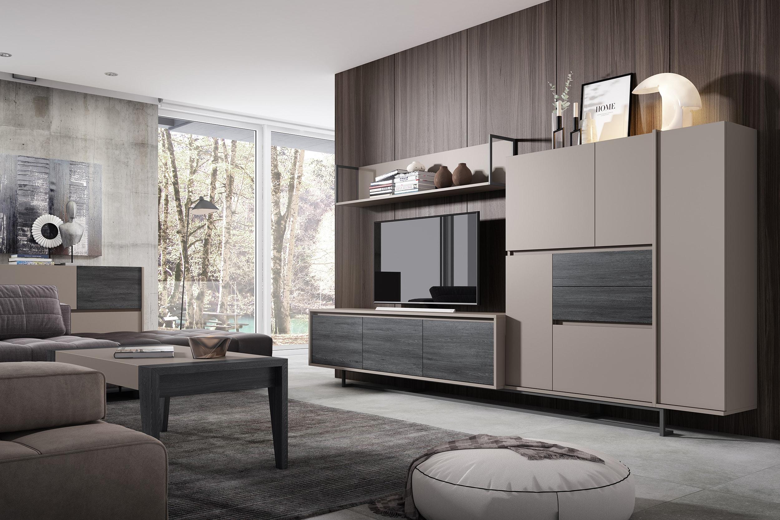 Composición modular de 310x144 cm, calidad de materiales y módulos muy funcionales. Utilidad ante todo.