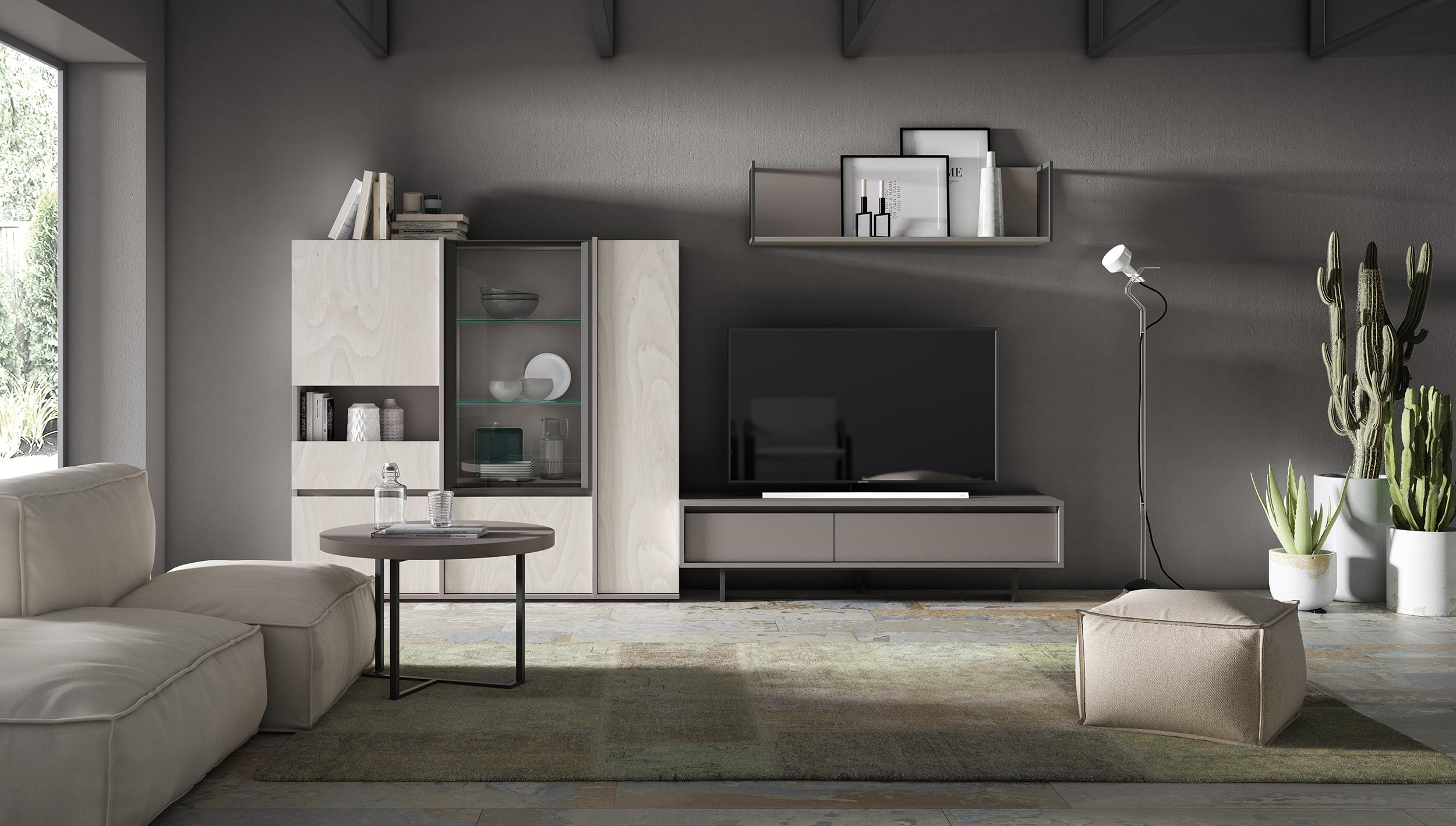 Composición modular 308x144 cm con diseños más frescos y acabados más avanzados.