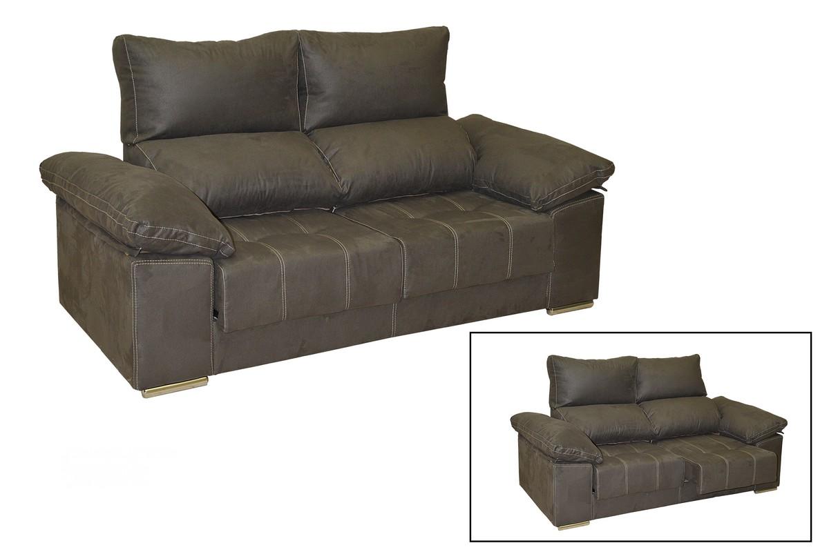 Sofá 3 plazas (2,00) + 2 plazas (1,77) con asientos deslizantes y respaldos reclinables. Pata metálica y tapicería a elegir, colores muy variados. Diseñado para ti.