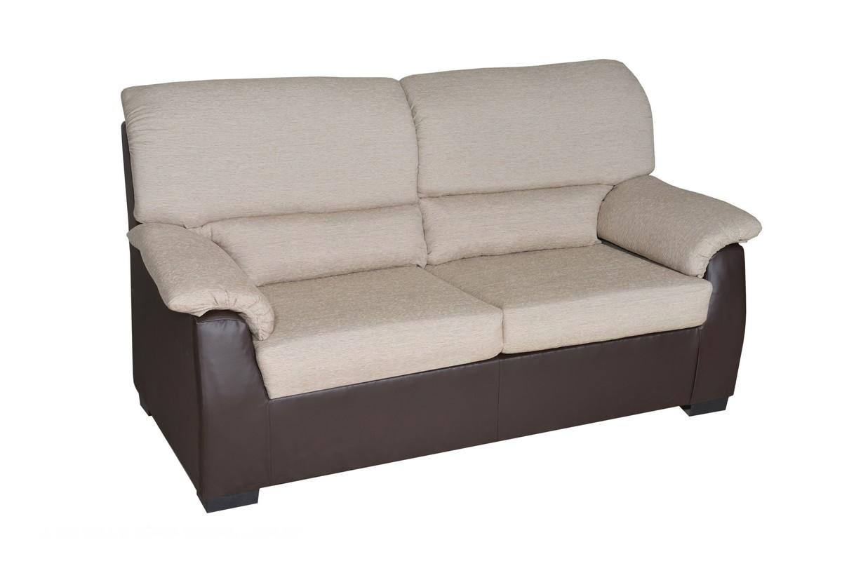 Sofá 3 plazas (172 cm) + 2 plazas (135) con asientos y respaldos fijos, gran gama de colores.