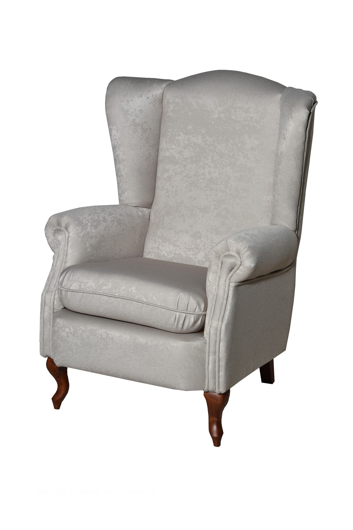 Butaca para camilla en línea clásica con posibilidad de sofá 3 o 2 plazas y adaptarlo a tus necesidades. Tapicería a elegir. Pata de madera curva.