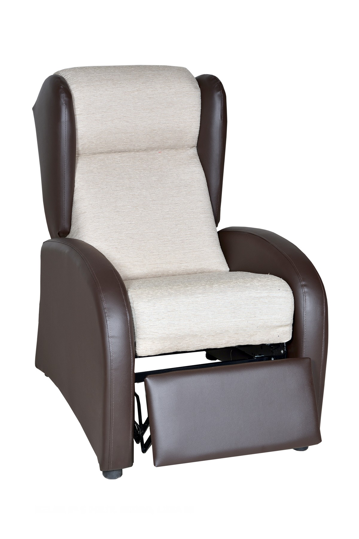 Acogedor sillón orejero con apertura manual reclinable, gran variedad de tejidos y colores.