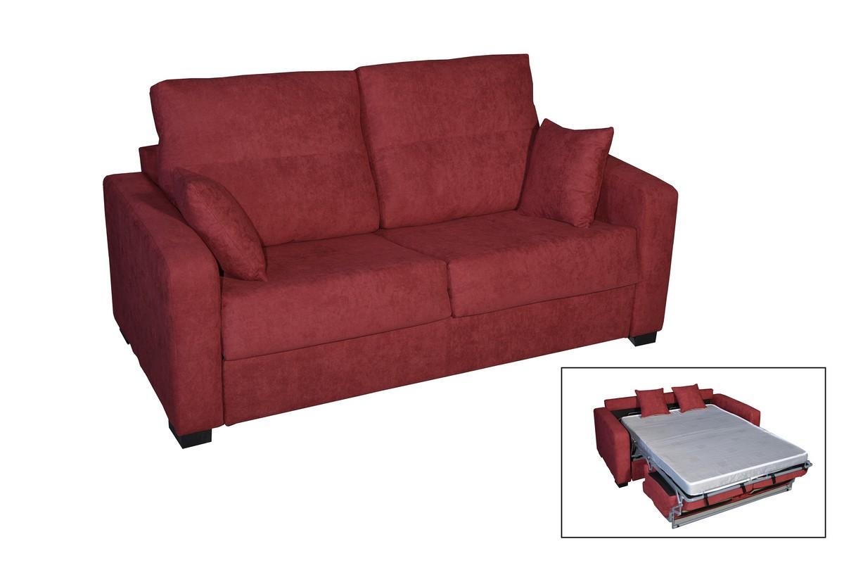 Sofá cama con sistema italiano, totalmente desenfundable y con diferentes medidas de cama. Un sofá que cumplirá a la perfección con su doble funcionalidad. Tapicería muy variada.