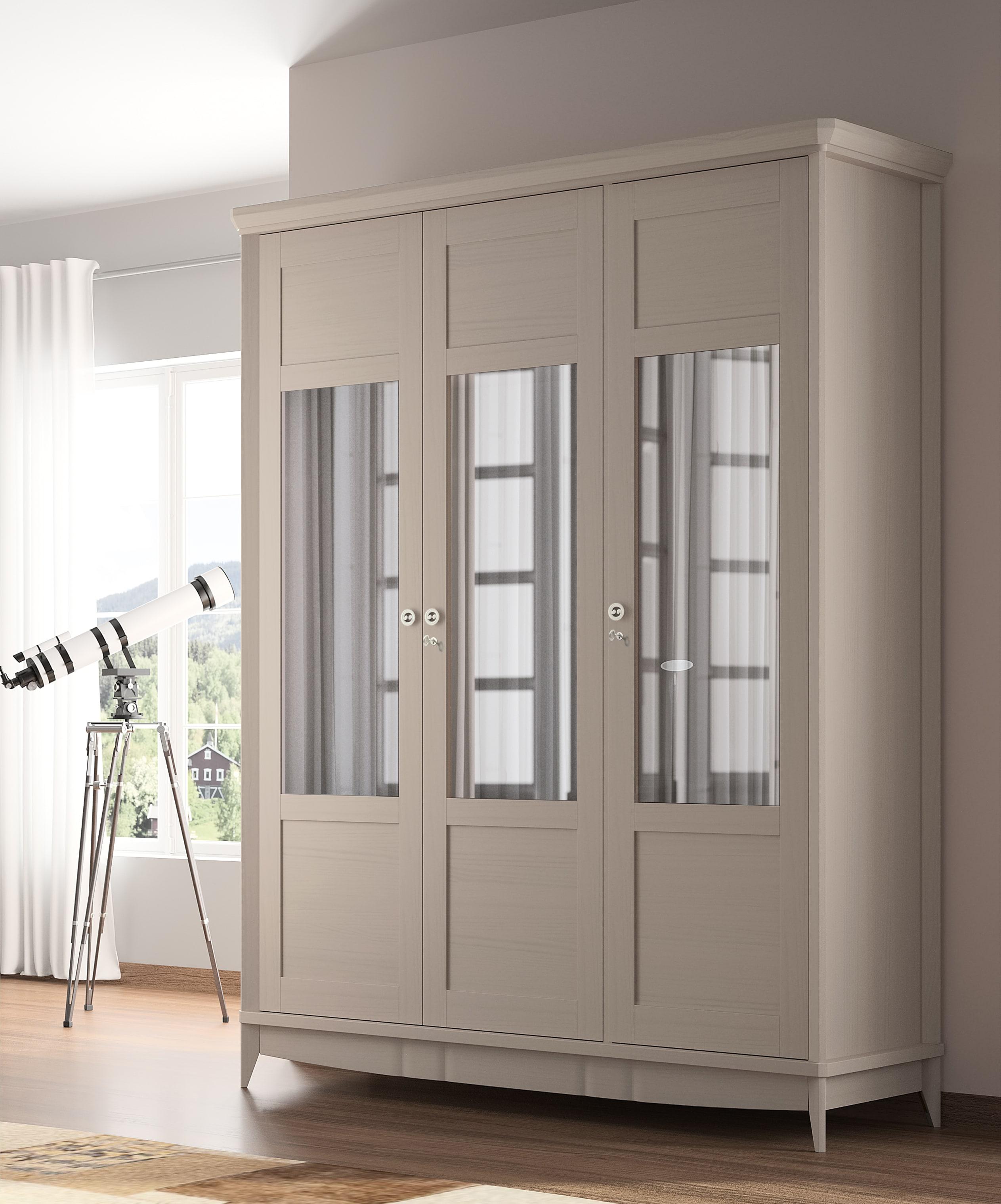 Armario de madera con puertas batientes, con medida y color a elegir. Su diseño limpio y elegante se adaptara a cualquier ambiente.