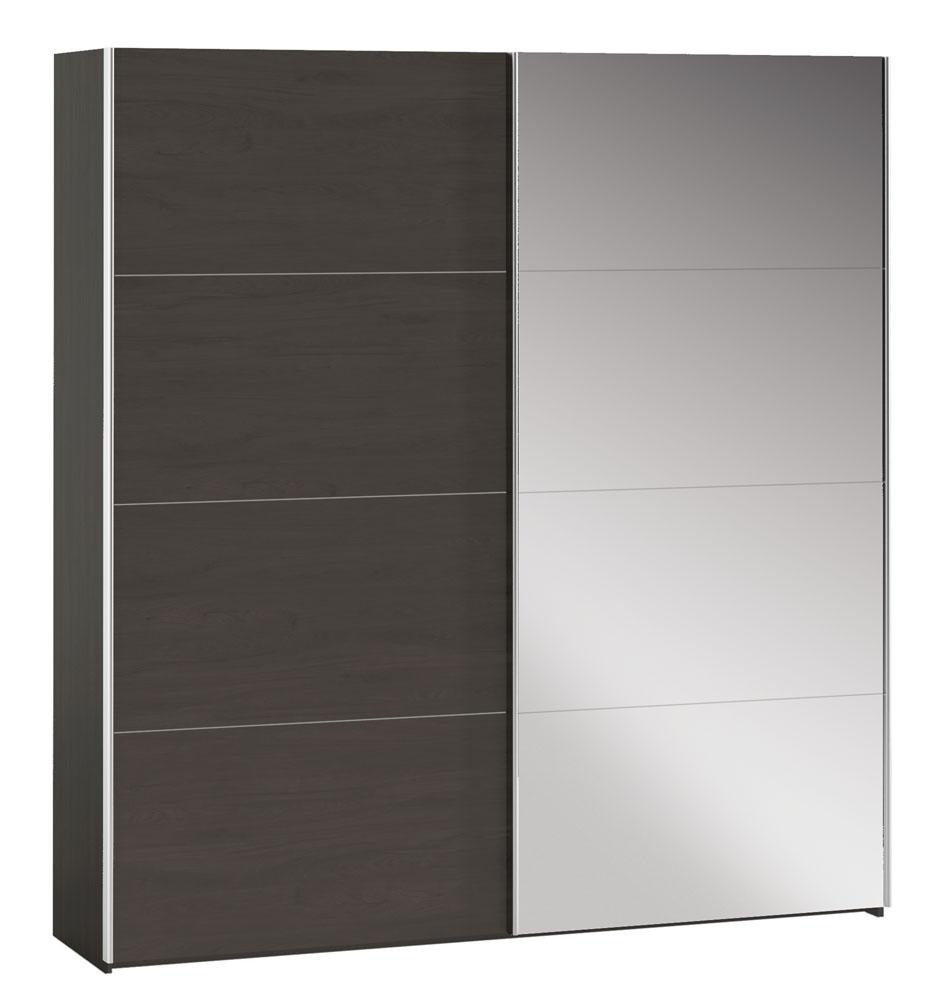 Armario de puertas correderas con luna opcional y varias medidas. Su espejo incorporado en sus puertas te sorprenderá, resultando muy práctico a la hora de vestirte además de aportar un toque diferente que te encantará.