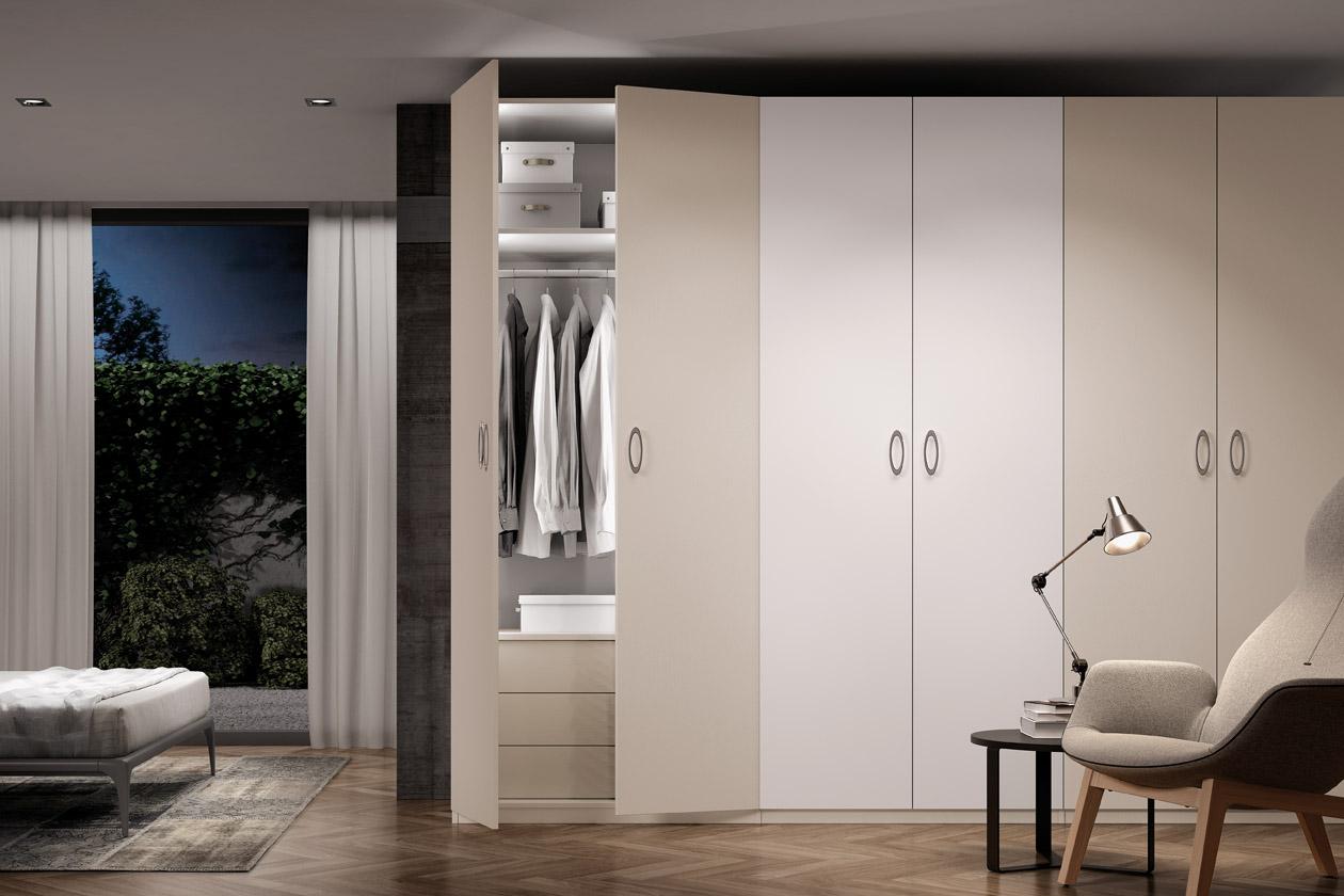 Armario puertas abatibles, adáptalo a la medida y con las puertas que quieras. Con éste armario lo tendrás muy fácil para estar siempre perfecto. Tendrás la combinación idónea de funcionalidad y diseño.