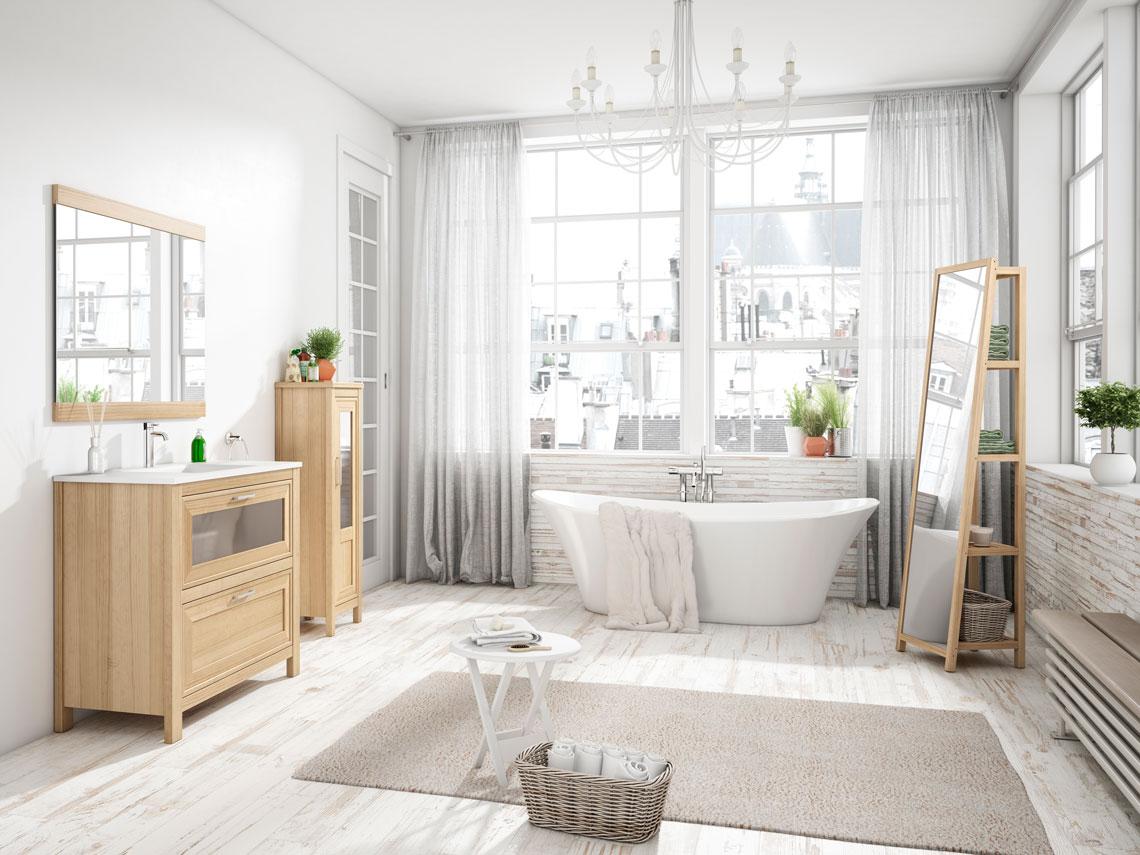 Mueble de baño 1pta+1cajon con diferentes opciones de medidas, complementos y acabados. El estilo de siempre con líneas renovadas.